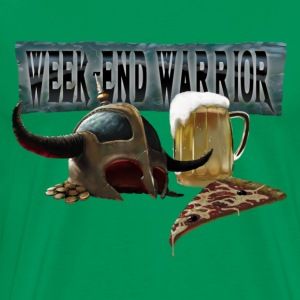 week end warrior green - Men's Premium T-Shirt