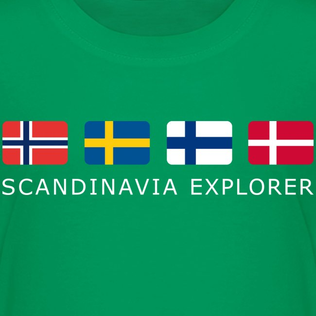Teenager T-Shirt SCANDINAVIA EXPLORER white-lettered