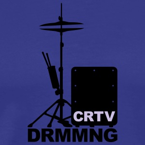 Creative Drumming Cajon and Hi Hat T-Shirts - Männer Premium T-Shirt