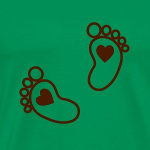baby - feet - heart T-Shirts - Men's Premium T-Shirt