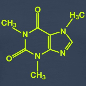 lime green caffeine molecule on navy tee - Men's Premium T-Shirt