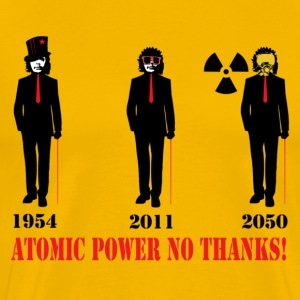 atomic power no thanks T-Shirts - Männer Premium T-Shirt