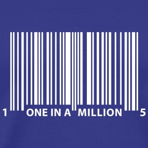 barcode_one_in_a_million T-shirts - T-shirt Premium Homme