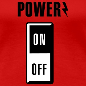 Power on/off T-shirts - Vrouwen Premium T-shirt