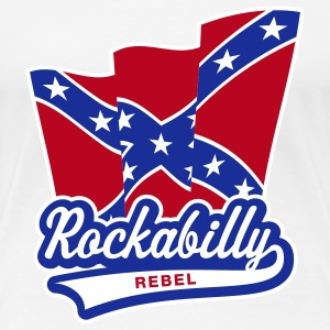 Rockabilly Rebel Flag, GirlieT-Shirt - Women's Premium T-Shirt