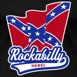 Rockabilly Rebel Flag, Girlie-T-Shirt - T-shirt Premium Femme