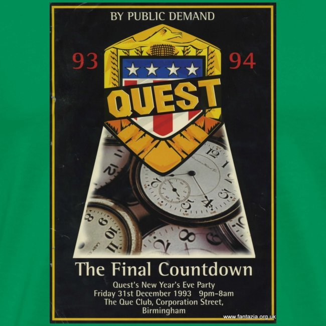 Quest The Final Countdown 31/12/93 Flyer