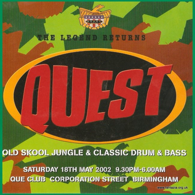 Quest 18/02/02 Que Club Flyer