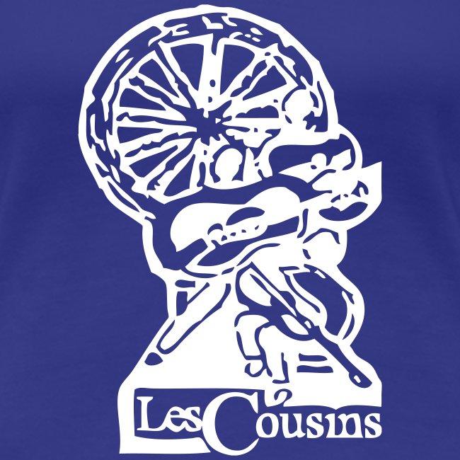 Les Cousins Ladies T-shirt (White Logo)