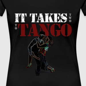 It Takes two to Tango - Neon Tango Dancers - Women's Premium T-Shirt