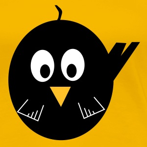 Blackbird yellow ladies Tee shirt - Women's Premium T-Shirt