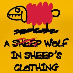 A wolf in sheep's clothing T-Shirts - Frauen Premium T-Shirt