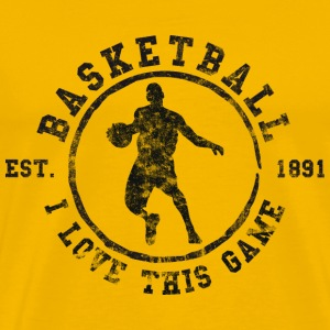 Basketball I Love This Game Est. 1891 (used look)  - Männer Premium T-Shirt
