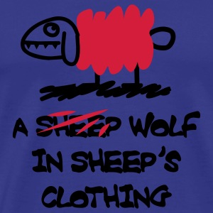A wolf in sheep's clothing T-Shirts - Männer Premium T-Shirt