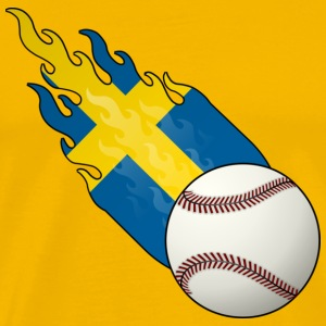Fireball Baseball Sweden - Men's Premium T-Shirt