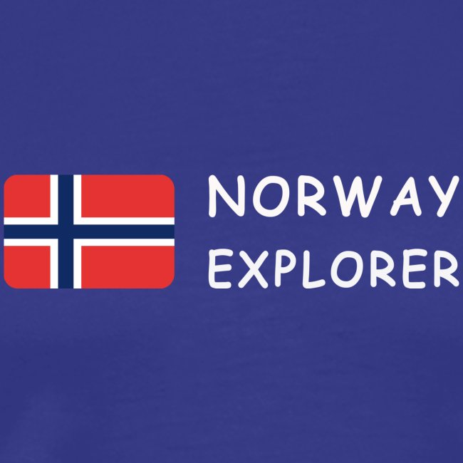 Classic T-Shirt NORWAY EXPLORER white-lettered