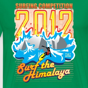 2012 - Surf the Himalaya T-shirts - Mannen Premium T-shirt
