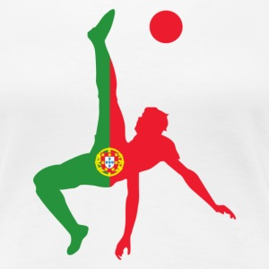 Portugal soccer UK - Women's Premium T-Shirt