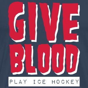 Give Blood Play Ice Hockey T-Shirts - Men's Premium T-Shirt
