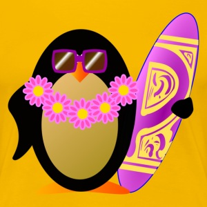 Pinguin Surfboard T-Shirts - Frauen Premium T-Shirt