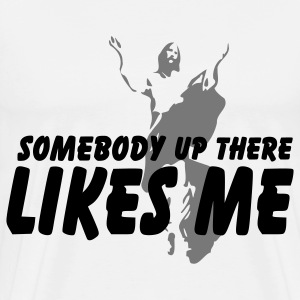 Somebody up there T-shirts - Mannen Premium T-shirt