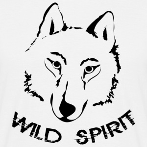 shirt wolf wild spirit lupus wolves pack wild moon howling - Men's T-Shirt
