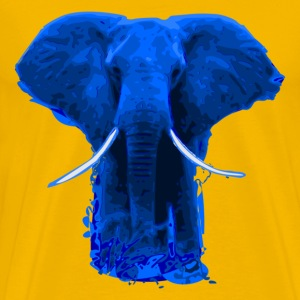 Afro - blue Elefant T-Shirts - Men's Premium T-Shirt