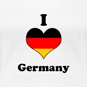 I love germany T-shirts - Premium-T-shirt dam