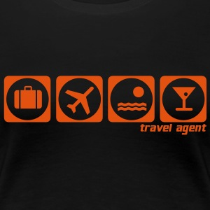 travel agent holiday - Frauen Premium T-Shirt