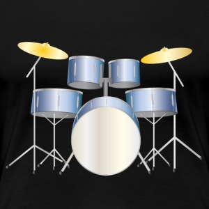 drums blue T-shirts - Vrouwen Premium T-shirt