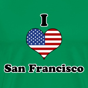 I love San Francisco T-skjorter - Premium T-skjorte for menn
