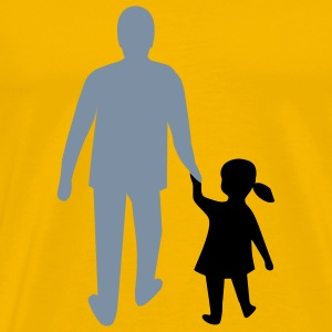 missing father and daughter T-skjorter - Premium T-skjorte for menn