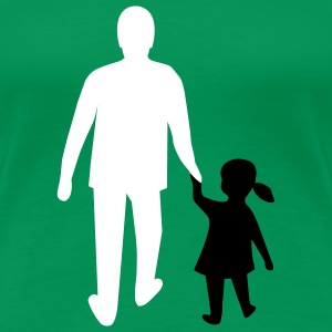 missing father and daughter T-shirts - Dame premium T-shirt
