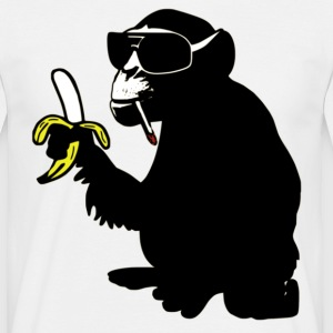 cool smoking monkey  - Männer T-Shirt
