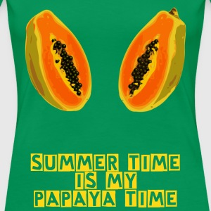 Half Papaya - editable - Women's Premium T-Shirt