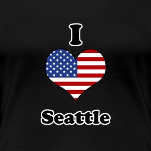 I love Seattle Tee shirts - T-shirt Premium Femme