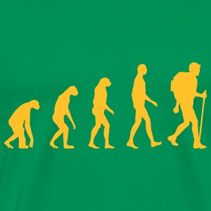Evolution hiking T-shirts - Mannen Premium T-shirt