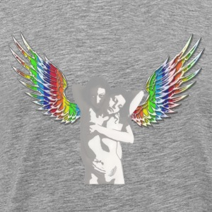 tee shirt  angels versus démon by customstyle - T-shirt Premium Homme