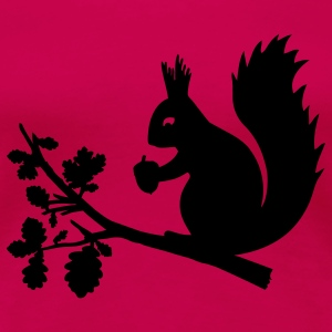 Ruby red squirrel T-Shirts - Women's Premium T-Shirt