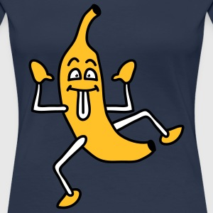 obst__comicbanane_3c T-shirts - Vrouwen Premium T-shirt
