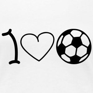 I love football T-shirt - Maglietta Premium da donna