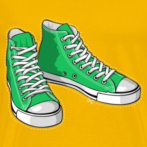 Green sneakers - Mannen Premium T-shirt