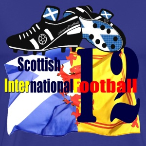 Scotland Navy International Football Flag Design T-Shirts - Men's Premium T-Shirt