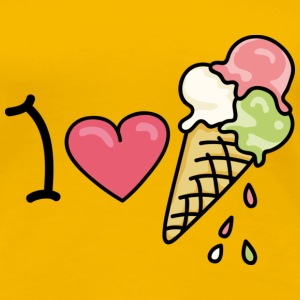 I love icecream T-Shirts - Frauen Premium T-Shirt