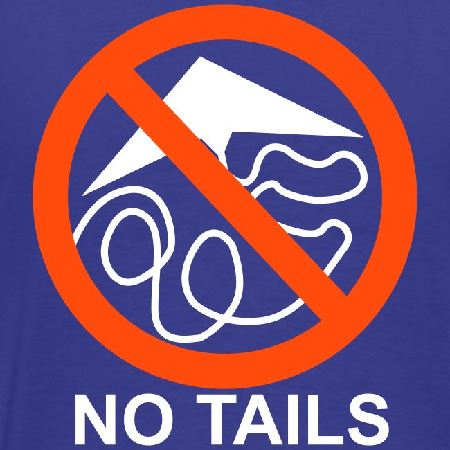 No Tails - blue classic T