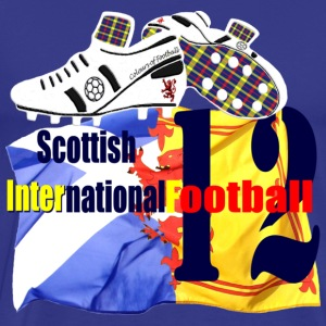 Scottish football custom tartan boot design T-Shirts - Men's Premium T-Shirt