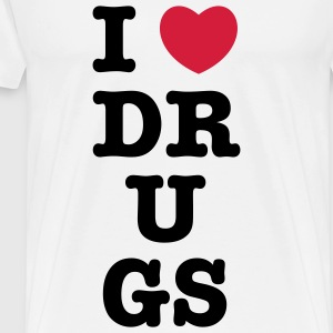 i heart / love drugs T-Shirts - Männer Premium T-Shirt