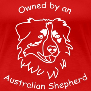 owned by an australian shepherd T-Shirts - Frauen Premium T-Shirt