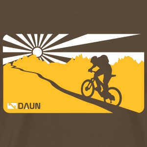 Noble brown Mountainbike, trail,  T-Shirts - Men's Premium T-Shirt