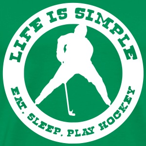 Life Is Simple, Eat, Sleep, Play Ice Hockey t-shirt - Männer Premium T-Shirt